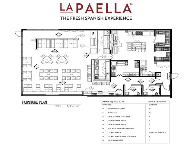 LaPaella Restuarant Floor Plan Layout